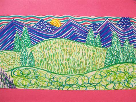 my artful nest line landscapes