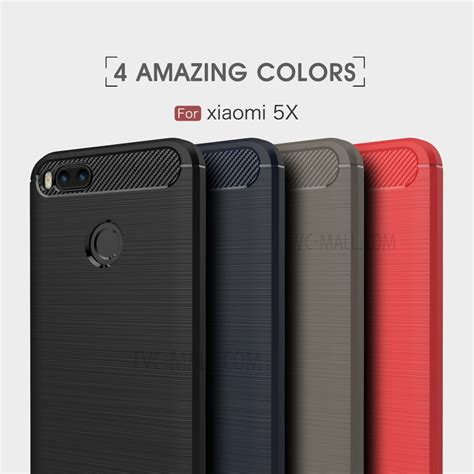 Xiaomi Mi A1 5x Tpu Soft Brushed Carbon Fiber Slim Casing Carbon Fiber Brushed Tpu Back Phone Casing For Xiaomi Mi