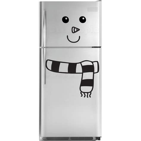Name Stickers For Walls snowman fridge decal