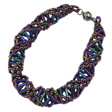 purple beaded bracelet dna purple beaded bracelet 9 5 quot