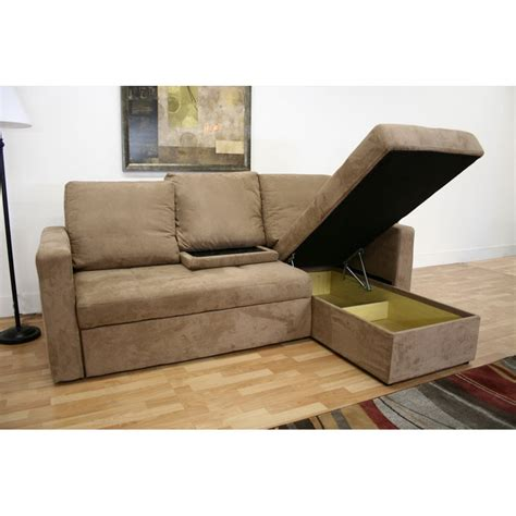 Wholesale Interiors Baxton Microfiber Convertible Sofa Bed Sectional Sofa Microfiber