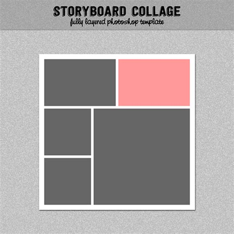 Storyboard Photo Collage Template Photoshop Template 12x12 Nr 15 Digitalbazaar Graphics 4 Photo Collage Template