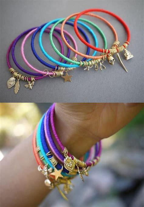 How To Make Handmade Bracelets With Threads - easy diy summer bracelet stylish