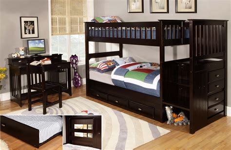 espresso bunk bed discovery world furniture twin over twin espresso