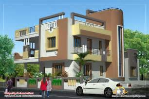 duplex house plan and elevation 2878 sq ft indian