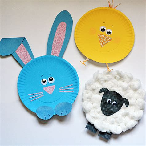 Crafts Using Paper Plates - paper plate easter characters 183 kix cereal