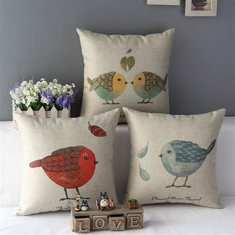 the linen store and home decor aliexpress buy bird throw pillow cushion covers sofa decorative pillowcases shabby