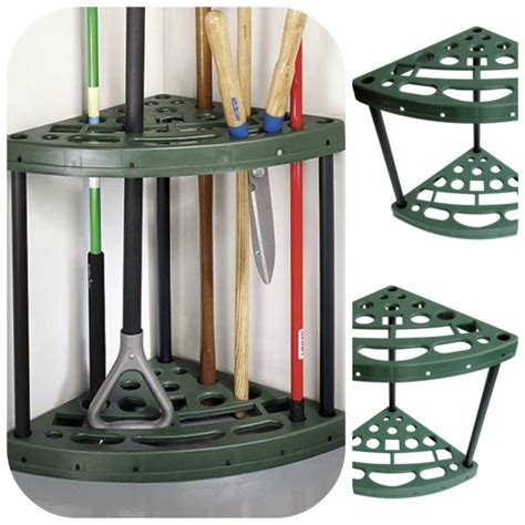 Shovel And Rake Storage Rack by Garden Yard Tool Corner Storage Rack Tools Organizer Broom