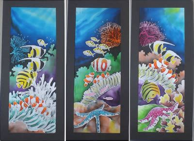 design lukisan batik lukisan batik koleksi hidupan laut chenacollections