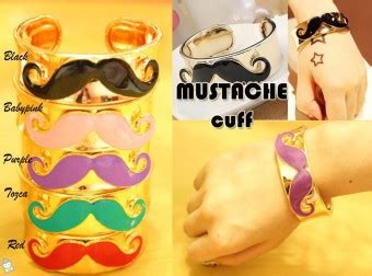 Mustache Cuff Gelang Pink store co id aksesoris mustache cuff gelang pink