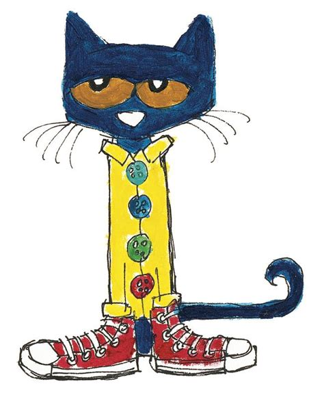 pete the cat groovy buttons button clipart pete the cat pencil and in color button
