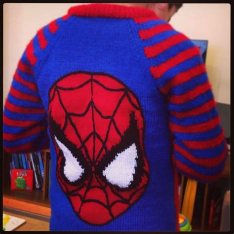 Knitting Pattern For Spiderman Jumper | spider man hand knit jumper knitting patterns