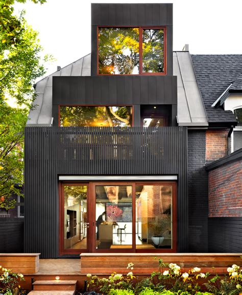 traditional and modern house family home flat design a traditional toronto house becomes modern design milk