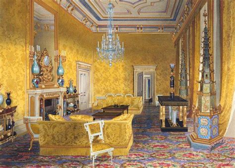 Thomas Kinkade Home Interiors James Roberts Buckingham Palace The Yellow Drawing Room