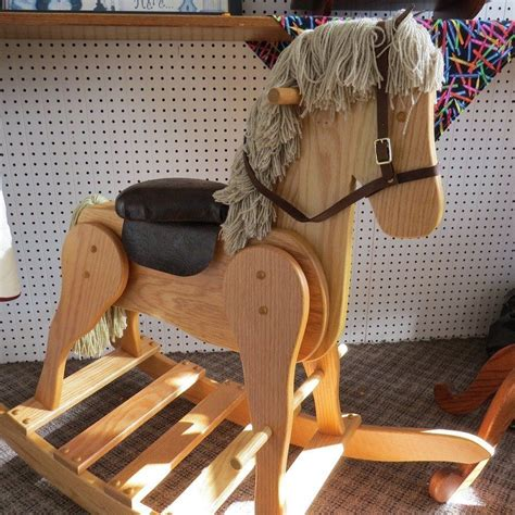 Handmade Rocking Horses Uk - large wooden rocking handmade toddler amish