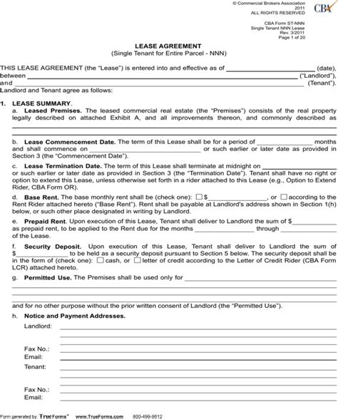 net lease agreement template net lease agreement template for free page 3