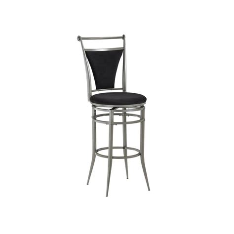 pewter bar stools hillsdale furniture cierra 30 in pewter swivel cushioned