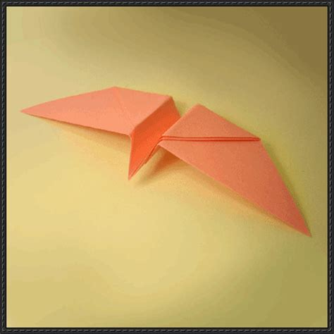 How To Make Bird Using Paper - twirling bird papercraftsquare free papercraft