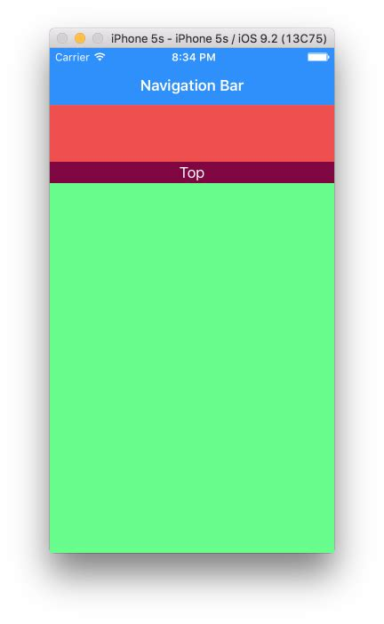 xcode layout navigation bar ios scrollview with navigation bar auto layout stack