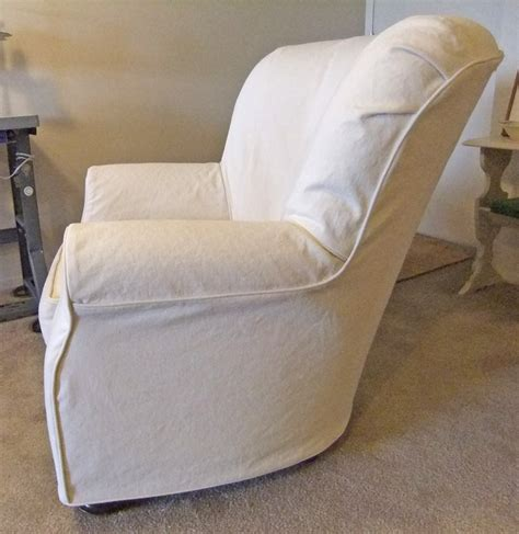chair slipcover natural denim slipcover side by karen powell