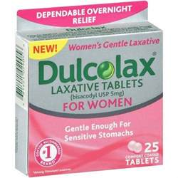 dulcolax laxative tablets for 25 count