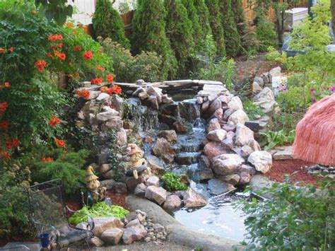 Backyard Pond Ideas With Waterfall Diy Fountains Waterfall Yard Luxury Pond 1024x768 Inspiration And Design Ideas For House