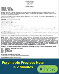 Psychiatric Progress Note Template by Mental Health Charting Icanotes