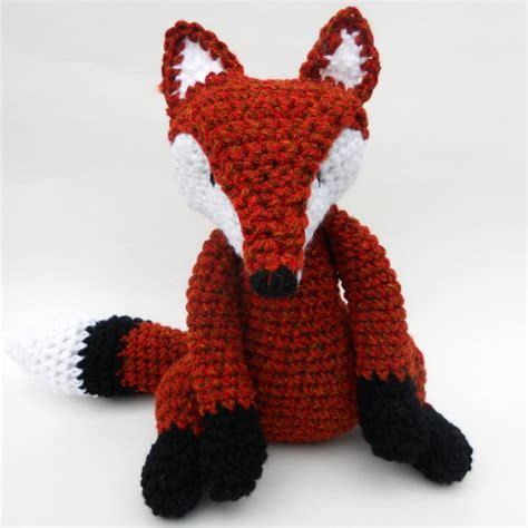 etsy fox pattern crochet fox crochet pinterest