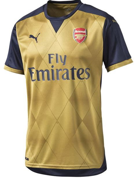 New Jersey Arsenal Away 20172018 official gold arsenal away jersey 2015 2016 arsenal away