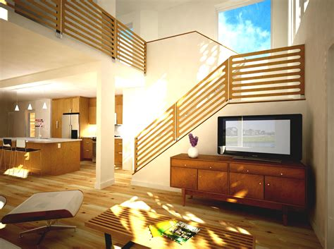 Room Stairs Design Living Room Design With Stairs Home Design Ideas