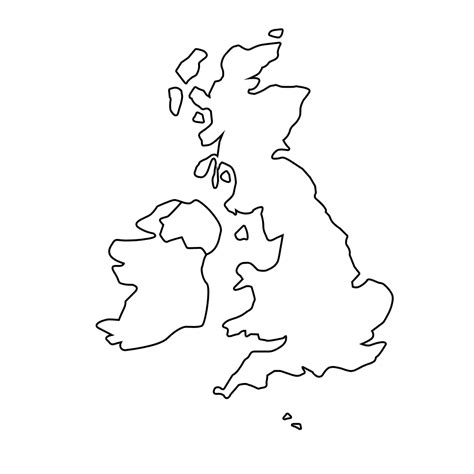 blank map template printable blank map of the uk free printable maps