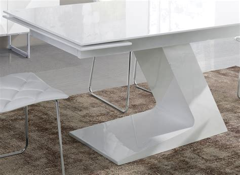 Table Salle A Manger Design Blanc Laque by Table 224 Manger Extensible Blanc Laqu 233 Design Arta