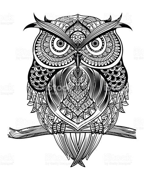 pattern animal artists line art owl01 stock vector art 508217148 istock