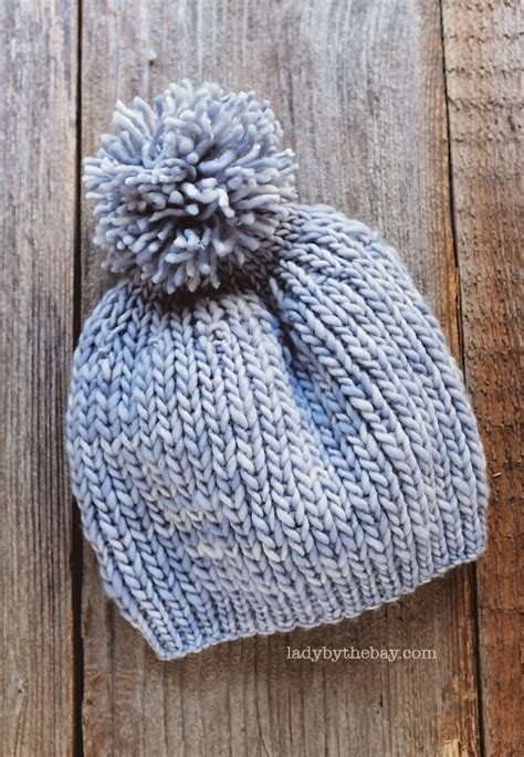 Knitted Hat 110 Yards Of Worsted 4 Yarn Size Us9 5