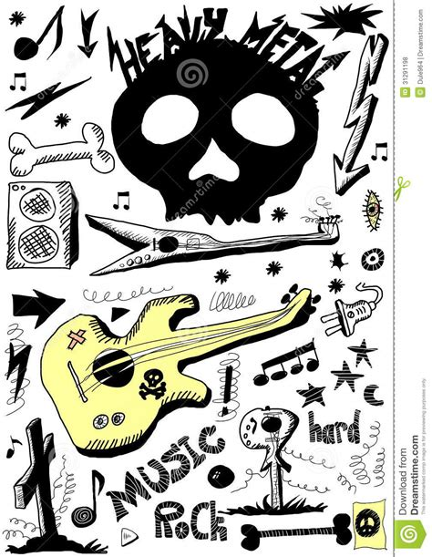 doodle metal doodle heavy metal royalty free stock photos