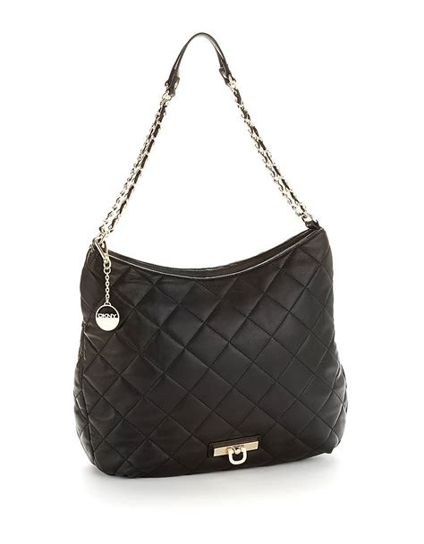 Dkny Black Quilted Handbag by Dkny Quilted Hobo Bag In Black Lyst