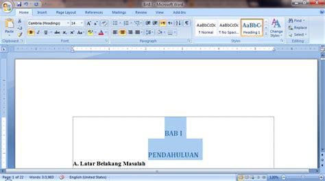 membuat daftar isi manual word 2016 daftar isi otomatis office word blogger pemula