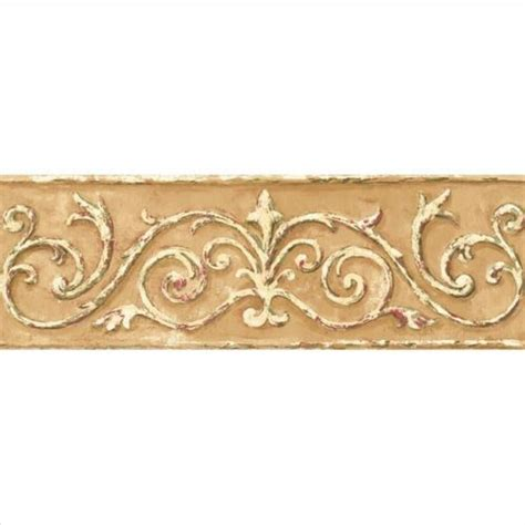 gold wallpaper trim acanthus scroll architectural gold wallpaper border hint
