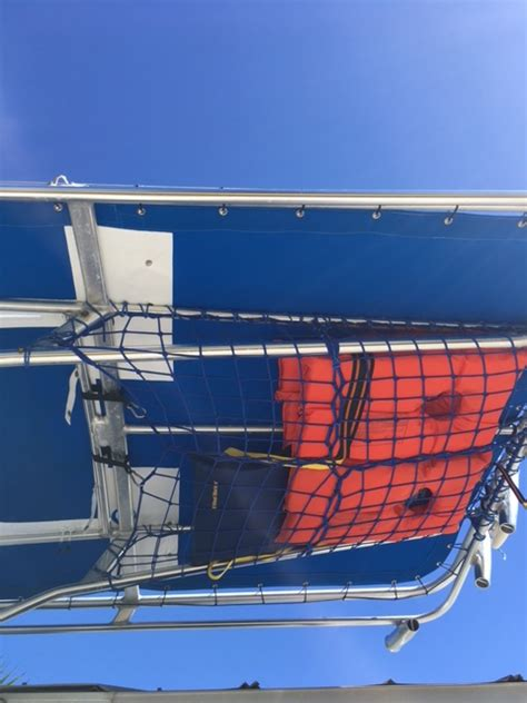 boat t top cargo net t top storage net the hull truth boating and fishing forum
