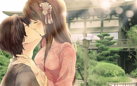wallpaper anime kiss hd cute anime couple wallpapers wallpaper cave