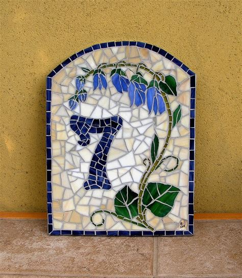 house numbers pattern 67 best house numbers in mosaic images on pinterest
