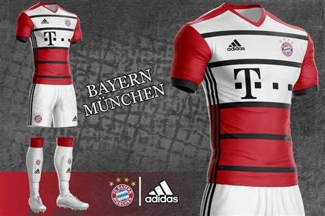 Jersey Bayern Munchen Home Official 17 18 Grade Ori bayern m 252 nchen 17 18 home away and third kit concepts by mothman revealed footy headlines
