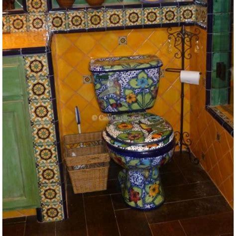 mexican talavera toilet hummingbird