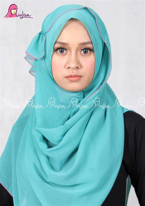 Kerudung Jilbab Instant Isaura 16 scarf tosca miulan boutique