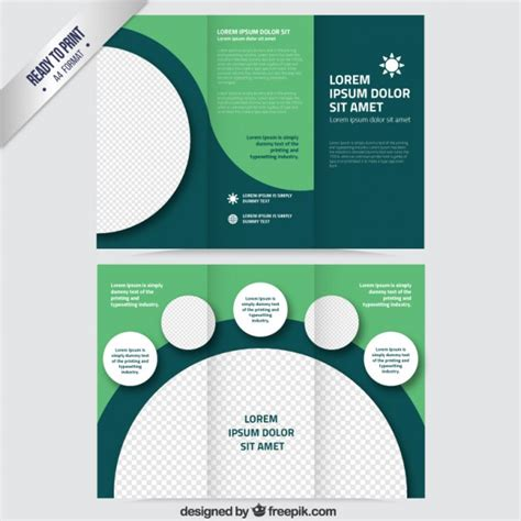 free vector brochure templates green brochure with circles vector free