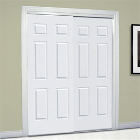 70 Inch Closet Doors Basement Hide Storage Area Slimfold 72 Quot X 80 Quot Bright White Woodgrained Framed 6 Panel Bypass
