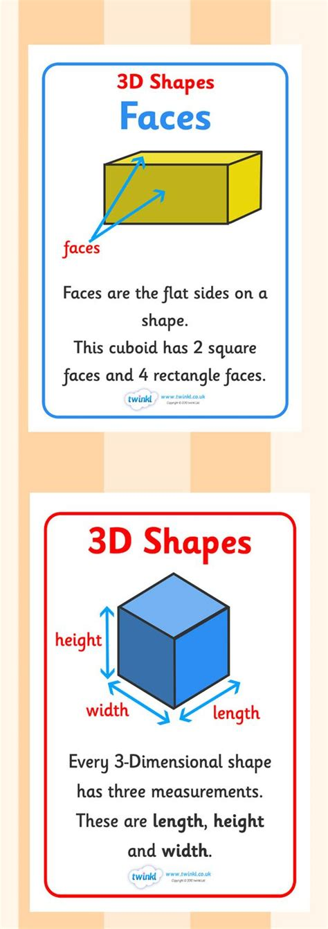 printable shapes display twinkl resources gt gt 3d shape properties display posters
