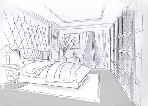 sketch your house interior in black and white or color for