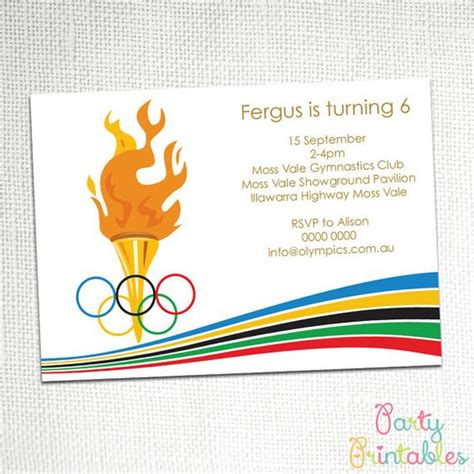 olympic party invitation awesome graphics and birthday