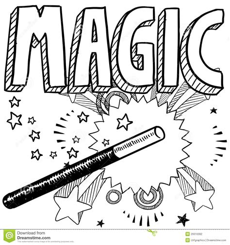 magic doodle free magic sketch stock photography image 29310392